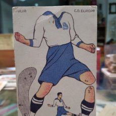 Cromos de Fútbol: CROMO RECORTABLE FUTBOL JULIA C.D. EUROPA 1923-24 CHOCOLATES AMATLLER. Lote 182294692