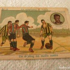 Cromos de Fútbol: (LLL)-CROMO 1922 CHOCOLATE AMATLLER - UN CAMPEONATO DE FUTBOL Nº: 4. Lote 182454287