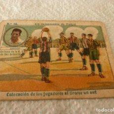 Cromos de Fútbol: (LLL)-CROMO 1922 CHOCOLATE AMATLLER - UN CAMPEONATO DE FUTBOL Nº: 16. Lote 182454490