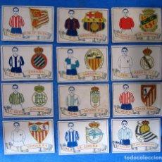 Cromos de Fútbol: COLECCIÓN COMPLETA DE 50 CROMOS EQUIPO Y ESCUDO. CHOCOLATES AMATLLER, 1929.. Lote 182605463