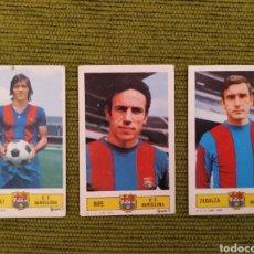 Cromos de Fútbol: FC BARCELONA EDICIONES ESTE 73/74. LOTE 3 CROMOS SIN PEGAR, MIGUELI, RIFE Y ZABALZA. Lote 182618395