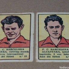 Cromos de Fútbol: CROMOS FUTBOL CLUB BARCELONA PIERA Y ALCÀNTARA ASES DEL FUTBOL 1941. Lote 182750650