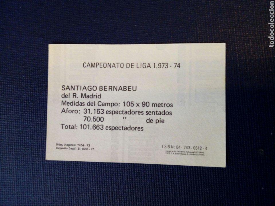 Cromos de Fútbol: (sin pegar nunca) FHER LIGA 73 - 74: 29 - SANTIAGO BERNABEU (R. Madrid) 1973 1974 - Campeonato Liga - Foto 2 - 182869537