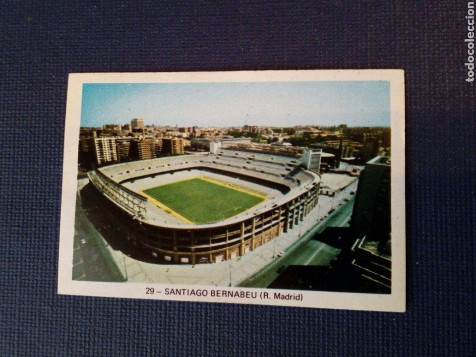 (SIN PEGAR NUNCA) FHER LIGA 73 - 74: 29 - SANTIAGO BERNABEU (R. MADRID) 1973 1974 - CAMPEONATO LIGA (Coleccionismo Deportivo - Álbumes y Cromos de Deportes - Cromos de Fútbol)