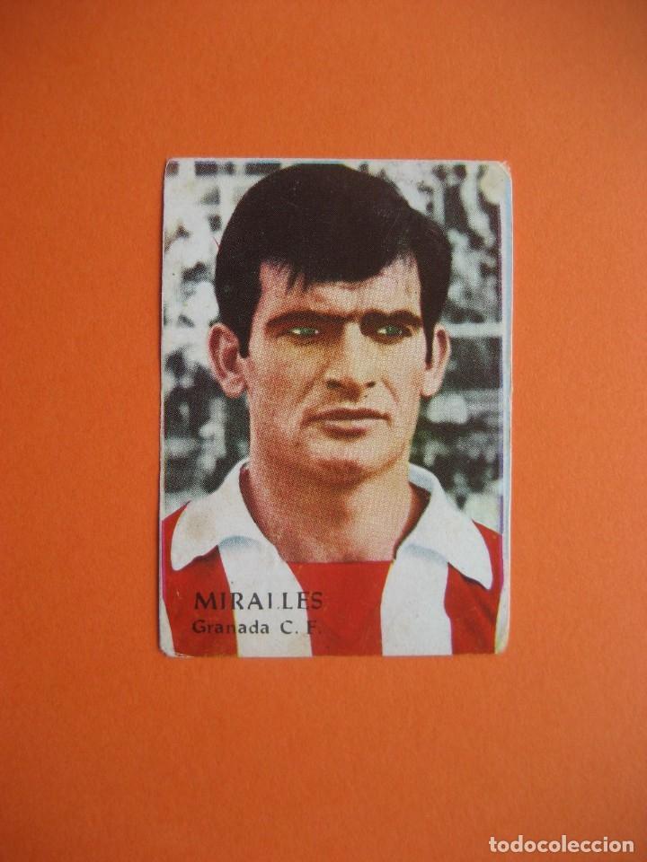 CROMO: MIRALLES - GRANADA C.F. - FHER / DISGRA 1968/69 CAMPEONATO DE LIGA (Coleccionismo Deportivo - Álbumes y Cromos de Deportes - Cromos de Fútbol)