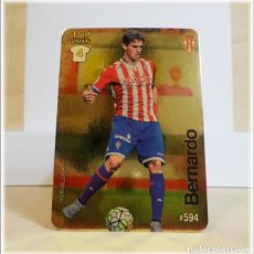 Cromos de Fútbol: MUNDICROMO 2015 2016 15 16 FICHAS QUIZ LIGA BERNARDO 594 TOP DORADO SPORTING GIJON CROMO FÚTBOL. Lote 183395085