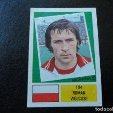Cromos de Fútbol: ROMAN WOJCICKI Nº 194 POLONIA POLSKA MUNDIAL ARGENTINA 78 - WORLD CUP 1978 EDITORIAL FHER. Lote 183400918