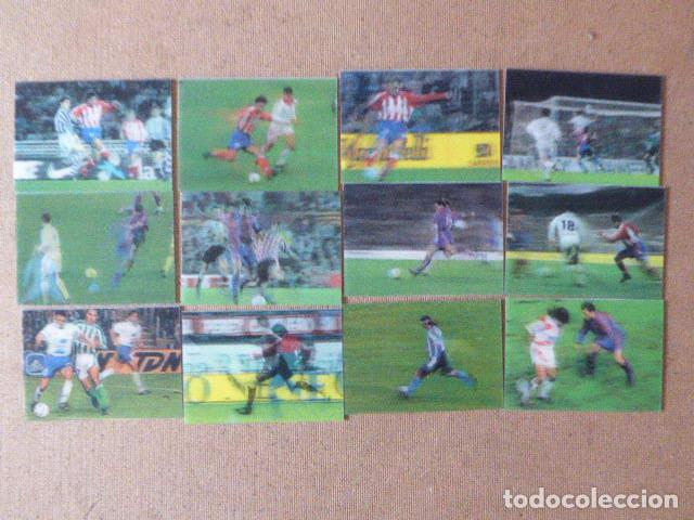 LOTE DE 12 CROMOS VIDEO-CARDS LIGA 96-97. PANINI. NUMS: 1-2-3-5-8-9-11-15-16-17-37 Y 39. (Coleccionismo Deportivo - Álbumes y Cromos de Deportes - Cromos de Fútbol)