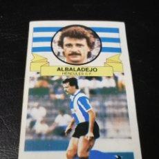 Cromos de Fútbol: ESTE LIGA 85/86.. FICHAJE N °6..ALBADALEJO.. HERCULES.. RECUPERADO... Lote 183774372