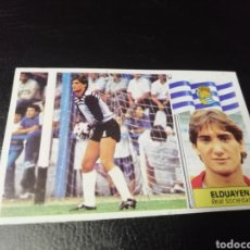 Cromos de Fútbol: ESTE LIGA 86 /87.. BAJA...ELDUAYEN..REAL SOCIEDAD.. RECUPERADO... Lote 183776257