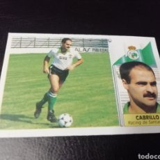 Cromos de Fútbol: ESTE LIGA 86 /87.. COLOCA... CABRILLO... RACING DE SANTANDER.. RECUPERADO.... Lote 183776556