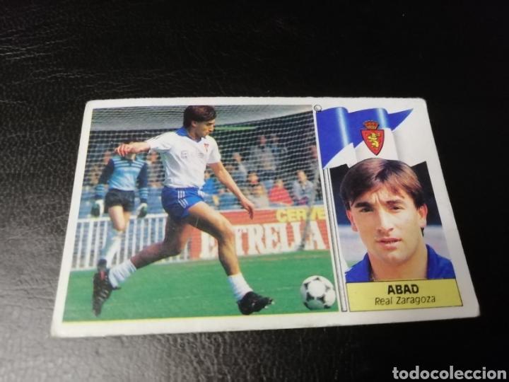 ESTE LIGA 86 /87... COLOCA... ABAD.. REAL ZARAGOZA.. NUNCA PEGADO... (Coleccionismo Deportivo - Álbumes y Cromos de Deportes - Cromos de Fútbol)