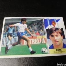 Cromos de Fútbol: ESTE LIGA 86 /87... COLOCA... ABAD.. REAL ZARAGOZA.. NUNCA PEGADO.... Lote 183777118