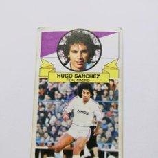 Cromos de Fútbol: HUGO SÁNCHEZ, ÚLTIMO FICHAJE N° 19 REAL MADRID, EDITORIAL ESTE 85/86. Lote 183824863