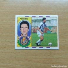 Cromos de Fútbol: GUTIERREZ REAL VALLADOLID EDICIONES ESTE 1996 1997 LIGA 96 97 SIN PEGAR NUNCA PEGADO. Lote 184090346