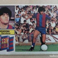 Cromos de Fútbol: CROMO FUTBOL EDICS ESTE 82 83 1982 1983 MARADONA VERSION IMPOSIBLE MUY DIFICIL BARCELONA BUENA CONS. Lote 184685313
