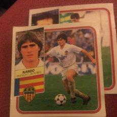 Cromos de Fútbol: ESTE 89 90 1989 1990 DESPEGADO VALENCIA NANDO. Lote 185655268