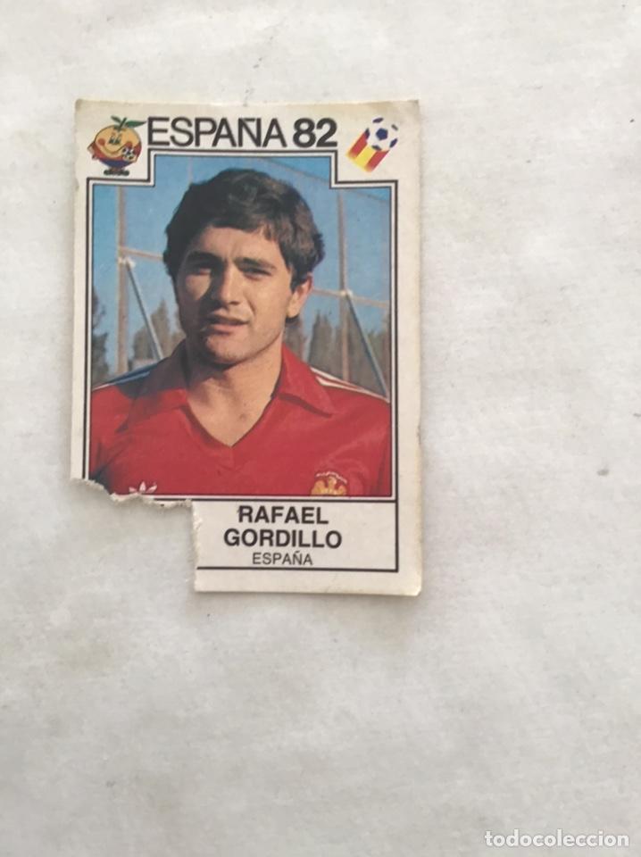 ESPAÑA 82. GORDILLO. LE FALTA LA BANDERA. (Coleccionismo Deportivo - Álbumes y Cromos de Deportes - Cromos de Fútbol)