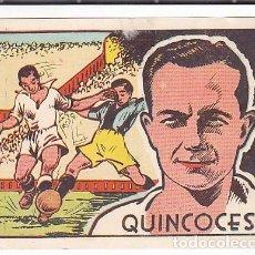 Cromos de Fútbol: CROMO FUTBOL CROMOS CULTURA EDITORIAL BRUGUERA QUINCOCES. Lote 235127730