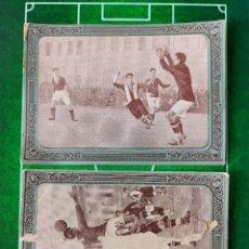 Cromos de Fútbol: CROMO FOTOGRAFÍA FÚTBOL CHOCOLATES HUESO FOOT BALL AÑOS 1920 Nº 1 Y 2 ESPAÑOL - ESPAÑA. Lote 186123591