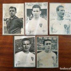 Cromos de Fútbol: REAL ZARAGOZA - 5 CROMOS DIFERENTES-COLECCIÓN DICEN 1958 - 1959 - INCLUYE LISTADO. Lote 39353997