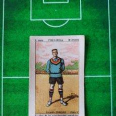 Cromos de Fútbol: CROMO FÚTBOL CONFITERÍA CHOCOLATES ENRIQUE V VIÑETAS FOOT BALL AÑOS 20 Nº 2 RICARDO ZAMORA. Lote 188494190