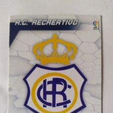 Cromos de Fútbol: MEGACRACKS 2005 2006 PANINI ESCUDO 2 DIVISIÓN N° 419 RECREATIVO HUELVA. Lote 245157795