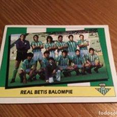 Cromos de Fútbol: CROMO ALINEACIÓN REAL BETIS BALOMPIE 87/88. Lote 189234852