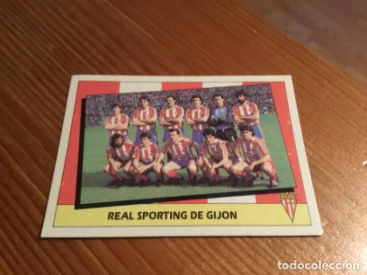 CROMO ALINEACIÓN REAL SPORTING DE GIJÓN 87/88 (Coleccionismo Deportivo - Álbumes y Cromos de Deportes - Cromos de Fútbol)
