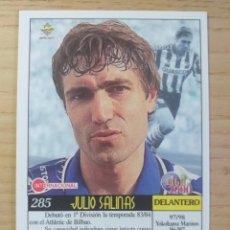 Cromos de Fútbol: FÚTBOL CROMO Nº 285 JULIO SALINAS DEPORTIVO ALAVÉS MUNDICROMO 1999 2000 99-00. Lote 270554073