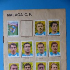 Cromos de Fútbol: MALAGA C.F. Y TENIS - HOJA SUELTA CON 21 CROMOS - ALBUM TENIS FUTBOL CICLISMO - AÑO 1966. Lote 189577287