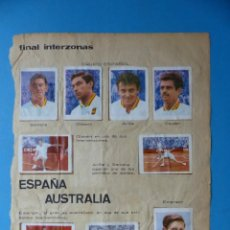 Cromos de Fútbol: SANTANA TENIS Y CICLISMO - HOJA SUELTA CON 14 CROMOS - ALBUM TENIS FUTBOL CICLISMO - AÑO 1966. Lote 189577485