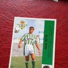 Figurine di Calcio: JOSE MARI REAL BETIS ED PANINI CROMO LIGA 95 96 FUTBOL 1995 1996 - SIN PEGAR - 458 FICHAJE 33. Lote 189727313
