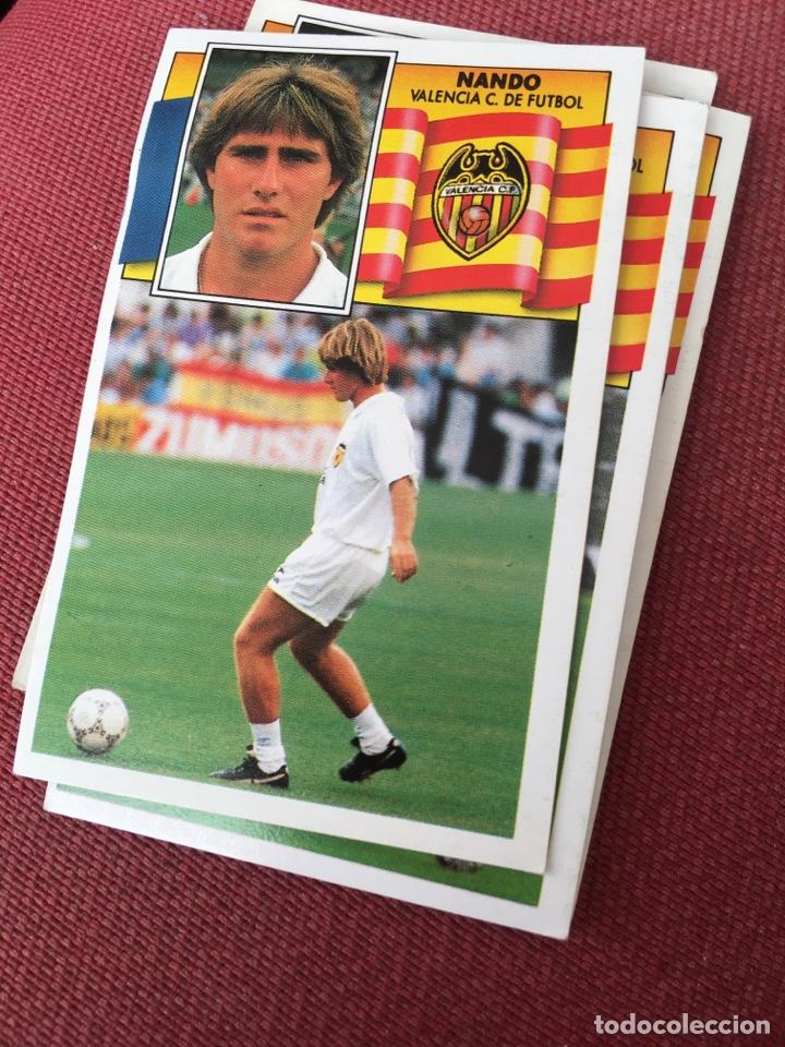 ESTE 90 91 1990 1991 DESPEGADO VALENCIA NANDO (Coleccionismo Deportivo - Álbumes y Cromos de Deportes - Cromos de Fútbol)