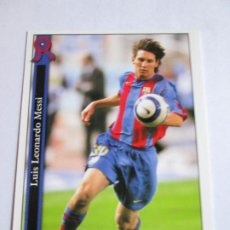 Cromos de Futebol: #602 MESSI BARCELONA UH ULTIMA HORA 05 06 MUNDICROMO FICHAS LIGA 2005 2006. Lote 205471950