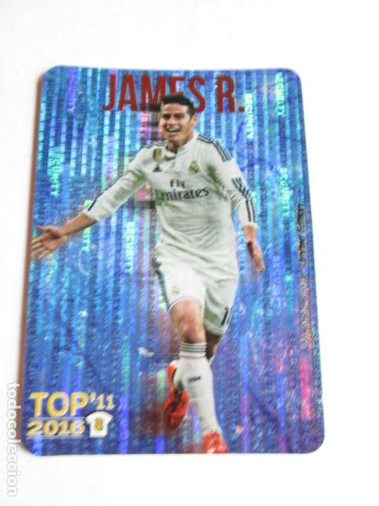 JAMES REAL MADRID TOP 11 AZUL SECURITY METALCARDS LIMITED EDITION 15 16 MUNDICROMO FICHAS 2015 2016 (Coleccionismo Deportivo - Álbumes y Cromos de Deportes - Cromos de Fútbol)