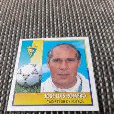 Cromos de Fútbol: COLOCA JOSE LUIS ROMERO (CADIZ) ESTE 92/93 SIN PEGAR. Lote 190083415