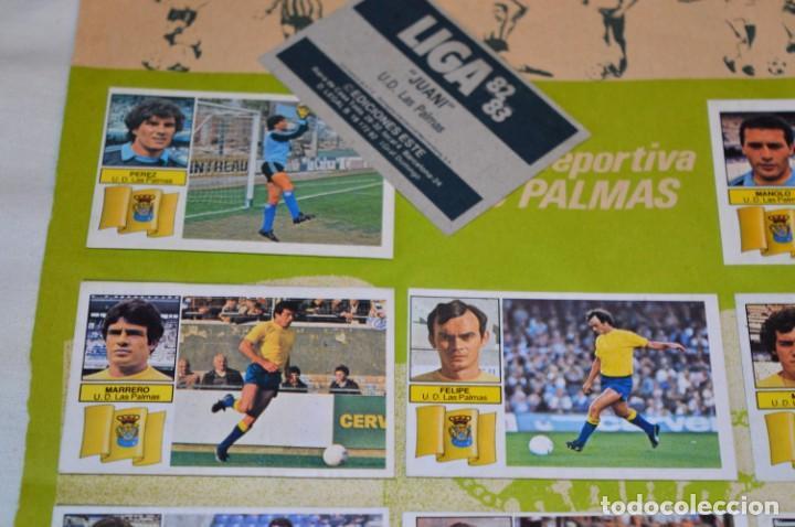 Cromos de Fútbol: Hoja con 31 cromos del LAS PALMAS y ATLÉTIC MADRID / - LIGA 1982 / 1983 -- 82 / 83 Edic. ESTE ¡Mira! - Foto 5 - 190117882