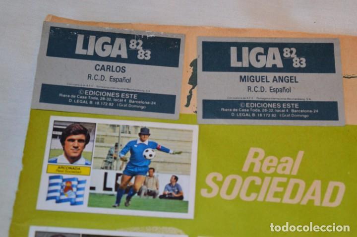 Cromos de Fútbol: Hoja con 31 cromos del VALENCIA y REAL SOCIEDAD / - LIGA 1982 / 1983 -- 82 / 83 Edic. ESTE ¡Mira! - Foto 4 - 190120418