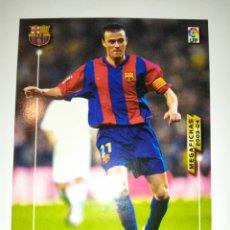 Figurine di Calcio: MEGAFICHAS 2003 2004 PANINI LUIS ENRIQUE N° 69 BARCELONA MEGACRACKS. Lote 273493868