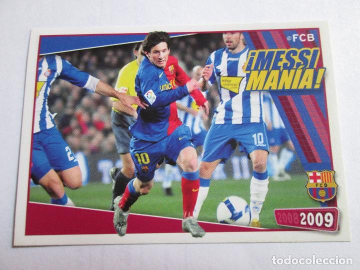#145 MESSI BARCELONA MANÍA 08 09 MESSIMANÍA PANINI 2008 2009 COLECCIÓN OFICIAL CROMO SIN PEGAR (Coleccionismo Deportivo - Álbumes y Cromos de Deportes - Cromos de Fútbol)