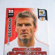Cromos de Fútbol: DAVID BECKHAM ENGLAND SUPERSTAR 2010 ADRENALYN SOUTH AFRICA INGLATERRA SUPER STAR. Lote 190572853