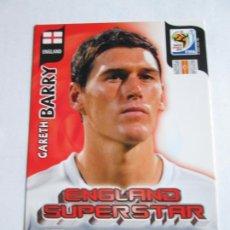 Cromos de Fútbol: GARETH BARRY ENGLAND SUPERSTAR 2010 ADRENALYN SOUTH AFRICA INGLATERRA SUPER STAR. Lote 190573235