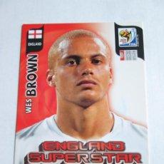 Cromos de Fútbol: WES BROWN ENGLAND SUPERSTAR 2010 ADRENALYN SOUTH AFRICA INGLATERRA SUPER STAR. Lote 190573265