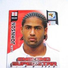 Cromos de Fútbol: GLEN JOHNSON ENGLAND SUPERSTAR 2010 ADRENALYN SOUTH AFRICA INGLATERRA SUPER STAR. Lote 190573300