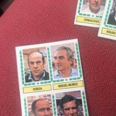 Cromos de Fútbol: ESTE 83 84 1984 1983 ENTRENADOR LUIS ARAGONES PEREDA MIGUEL MUÑOZ RIOS DESPEGADO. Lote 190597346