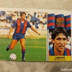 Cromos de Fútbol: LINEKER F.C. BARCELONA COLOCA FICHAJE 20 . 1986/87. ALBUM LIGA ESTE 86 87 FICHAJE Nº 19. Lote 190723070