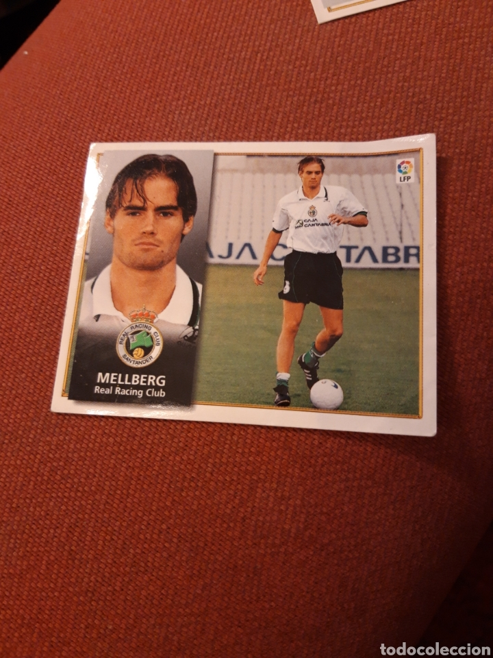 ESTE 98 99 1998 1999 VENTANILLA RACING DE SANTANDER COLOCA MELLBERG (Coleccionismo Deportivo - Álbumes y Cromos de Deportes - Cromos de Fútbol)