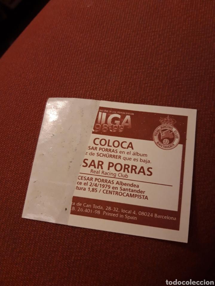 Cromos de Fútbol: Este 98 99 1998 1999 ventanilla Racing de Santander coloca cesar porras - Foto 2 - 190780347