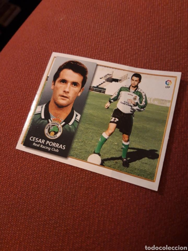 ESTE 98 99 1998 1999 VENTANILLA RACING DE SANTANDER COLOCA CESAR PORRAS (Coleccionismo Deportivo - Álbumes y Cromos de Deportes - Cromos de Fútbol)